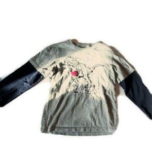 🦖🍭Gymboree Dino Tee size 6 long sleeve